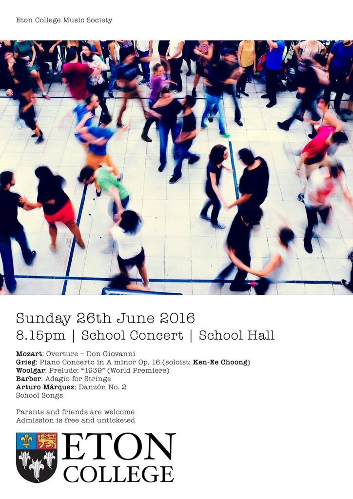 Eton School Concert Poster